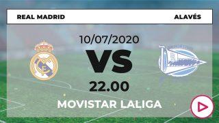 Liga Santander 2019-2020: Real Madrid – Alavés | Horario del partido de fútbol de Liga Santander.