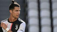 Cristiano Ronaldo, en el Juve-Milan del Calcio. (AFP)