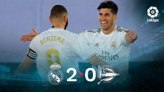 El Real Madrid se impuso 2-0 al Alavés.