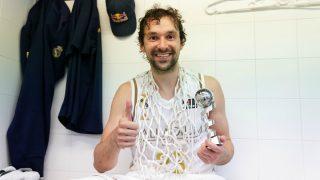 Sergio Llull, en el vestuario. (ACB Photo)