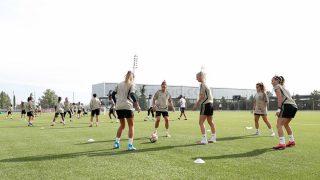 El Real Madrid femenino ya trabaja en Valdebebas. (@realmadridfem)