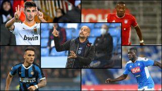 El Manchester City planea fichar a Ferran, Alaba, Lautaro y Koulibaly.
