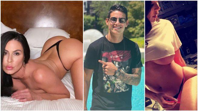 Kendra Lust y James Rodríguez, en fotos de Instagram.