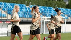El Real Madrid femenino, durante un entrenamiento. (Realmadrid.com)