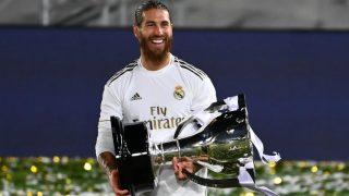 Sergio Ramos, con la Liga. (AFP)