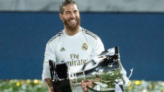 Sergio Ramos con la Liga. (EFE)