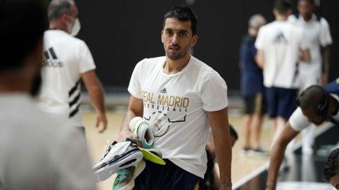Campazzo, en un entrenamiento del Real Madrid. (ACB Photo)