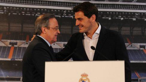 Iker Casillas y Florentino Pérez. (Getty)