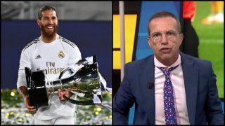 Sergio Ramos mandó un recado a Cristobal Soria tras ganar la Liga Santander. (AFP / 'El Chiringuito de Jugones')