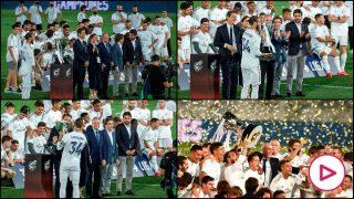 Sergio Ramos levanta el título de campeones de Liga.