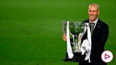 Zidane, con la Liga. (AFP)