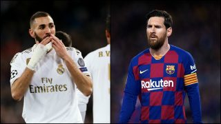 Karim Benzema y Leo Messi