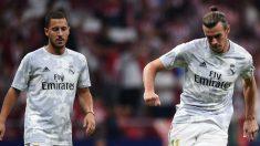 Hazard y Bale, antes de un partido con el Real Madrid.