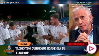 Inda desveló que Florentino quiere darle un contrato vitalicio a Zidane.