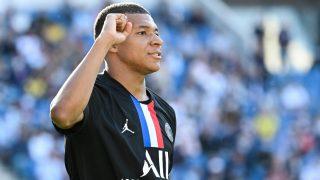 Kylian Mbappé celebra un gol con el PSG. (AFP)