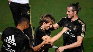 Luka Modric y Bale. (AFP)