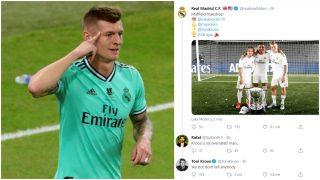 Kroos y su respuesta al tuitero.