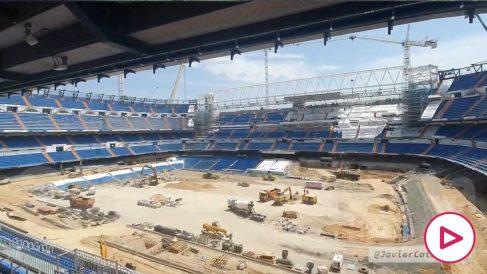 Así están las obras del nuevo Bernabéu por dentro. (vídeo: @javiercaireta)