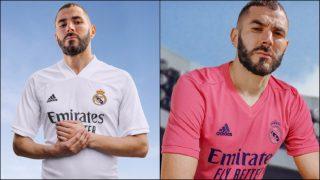 Benzema, modelo de las nuevas camisetas del Real Madrid.