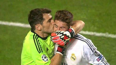 Sergio Ramos e Iker Casillas en la final de la Champions de 2014. (Twitter)