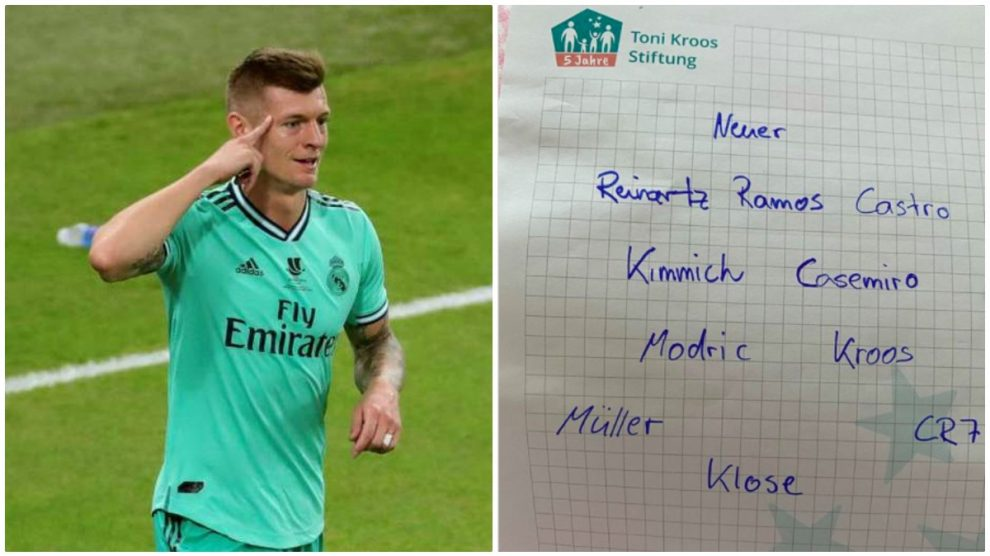 Kroos reveló su once ideal.