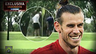 Gareth Bale se pasó la mañana jugando al golf mientras el Madrid se la juega en Manchester.
