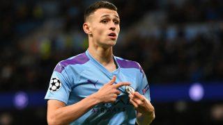 Foden celebra un gol con el Manchester City. (AFP)