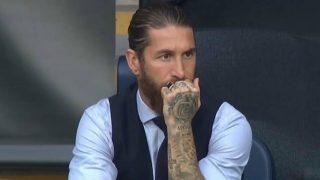 Sergio Ramos, durante un partido de esta temporada. (Getty)