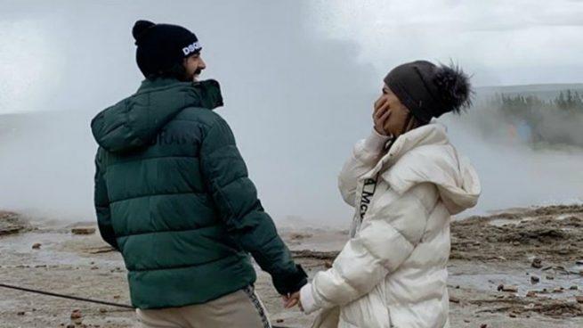 Isco y Sara Sálamo, en Islandia.