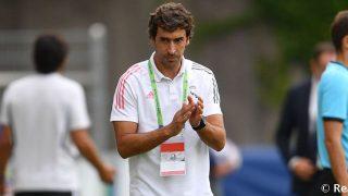 Raúl, durante un partido en la UEFA Youth League. (Realmadrid.com)