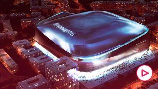 Así está el interior del estadio Santiago Bernabéu.