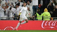 Mariano celebra un gol con el Real Madrid. (AFP)