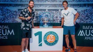 Nadal y Ramos, juntos en la academia del tenista.