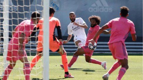 El Real Madrid durante un entrenamiento (Realmadrid.com)