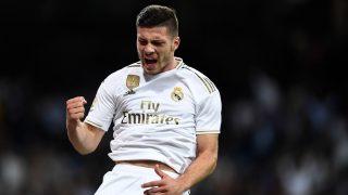 Luka Jovic celebra un gol con el Real Madrid (AFP).
