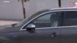 Bale, abandonando Valdebebas en su propio coche. (GOL)