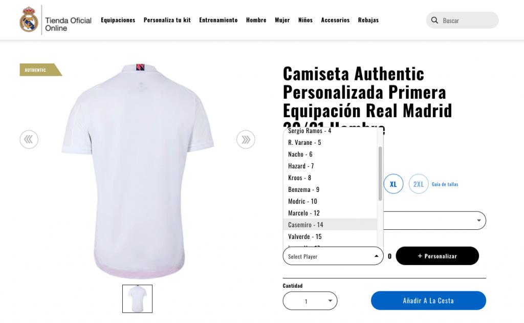 El Real Madrid deja de vender la camiseta de Bale en su tienda online