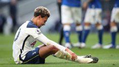Dele Alli durante un partido con el Tottenham Hotspur. (Getty)
