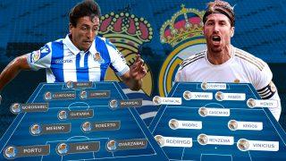 Real Sociedad y Real Madrid se enfrentan en Anoeta.
