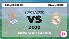 Liga Santander 2020-2021: Real Sociedad – Real Madrid   Horario del partido de fútbol de Liga Santander.