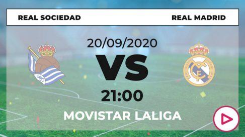 Liga Santander 2020-2021: Real Sociedad – Real Madrid | Horario del partido de fútbol de Liga Santander.