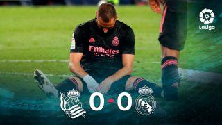 Real Sociedad y Real Madrid empataron a cero en Anoeta.