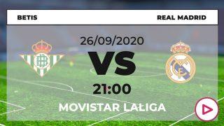 Liga Santander 2020-2021: Betis – Real Madrid | Horario del partido de fútbol de Liga Santander.