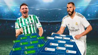 Betis y Real Madrid se enfrentan en el Villamarín.