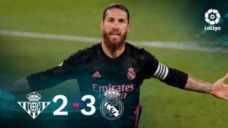 El Real Madrid ganó 2-3 al Betis en el Villamarín.