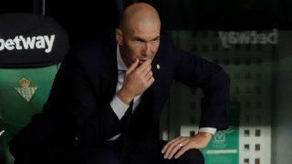 Zidane, durante un partido del Real Madrid. (EFE)