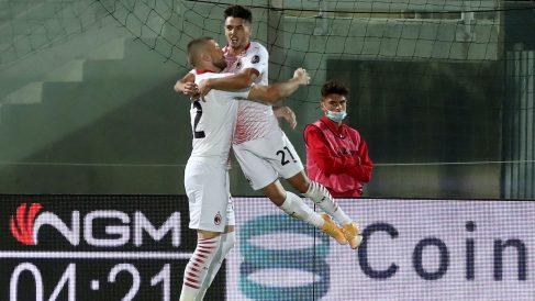 Brahim Díaz celebra su gol con el Milán este pasado domingo ante el Crotone. (Getty)