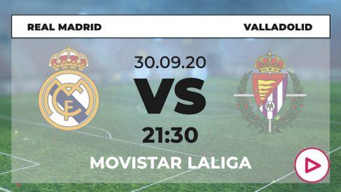 iga Santander 2020-2021: Real Madrid – Valladolid | Horario del partido de fútbol de Liga Santander.