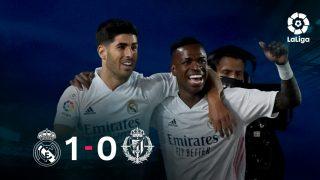 El Real Madrid venció 1-0 al Valladolid con gol de Vinicius.