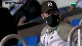 Eden Hazard estuvo presente en la grada en el Real Madrid-Valladolid.